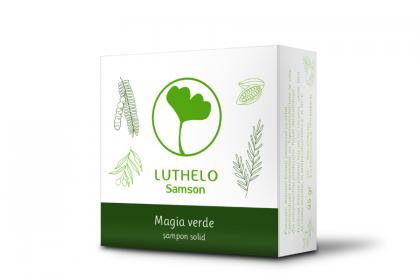 Magia verde - sampon solid - par cu tendinte de ingrasare